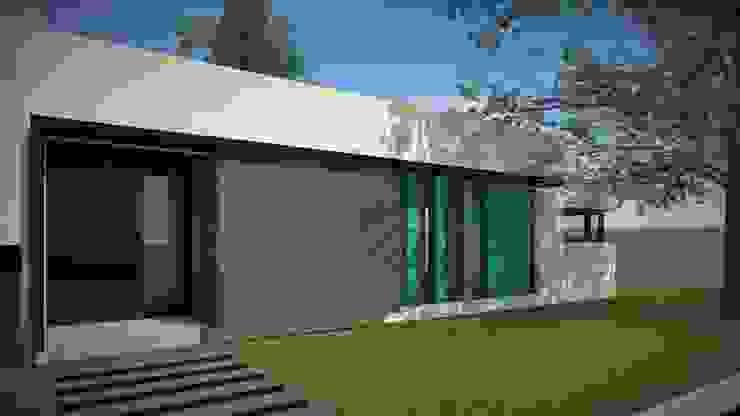 Modelo 3d / Fachada Casas modernas: Ideas, imágenes y decoración de Estudio Pauloni Arquitectura Moderno