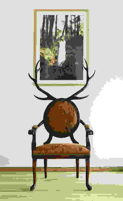 MERVE KAHRAMAN PRODUCTS & INTERIORS غرفة المعيشةأريكة ومقاعد إسترخاء خشب Brown