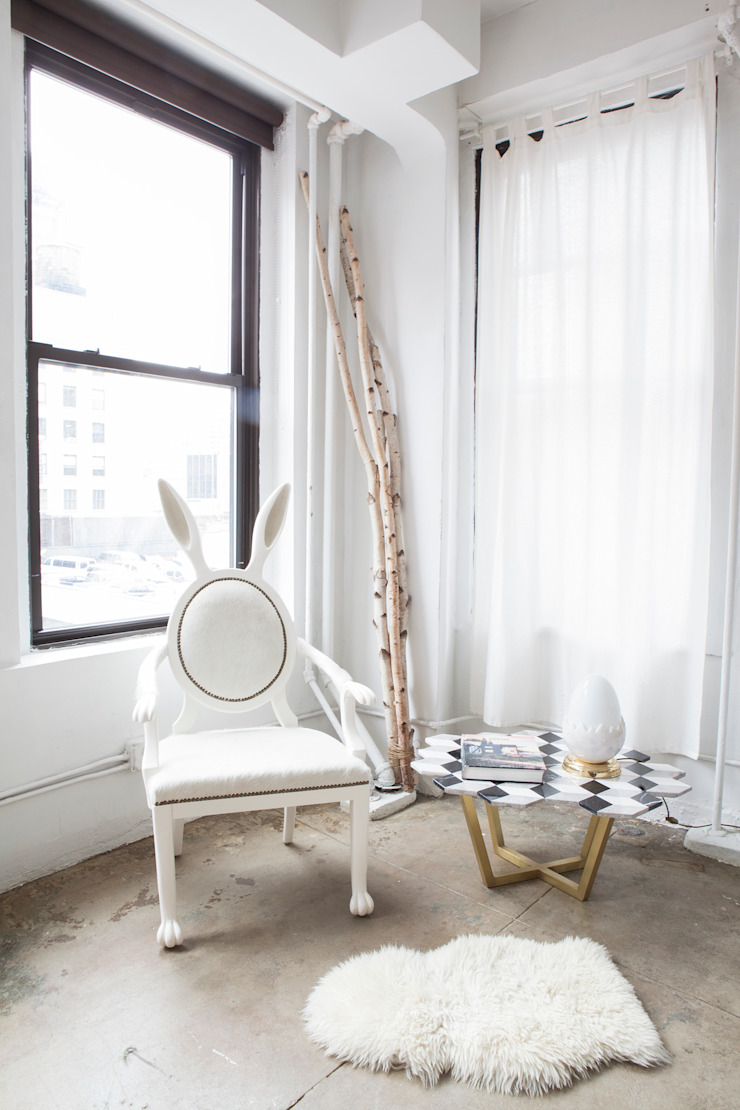 LOFT—NOMAD NYC Eclectic style bedroom by MERVE KAHRAMAN PRODUCTS & INTERIORS Eclectic