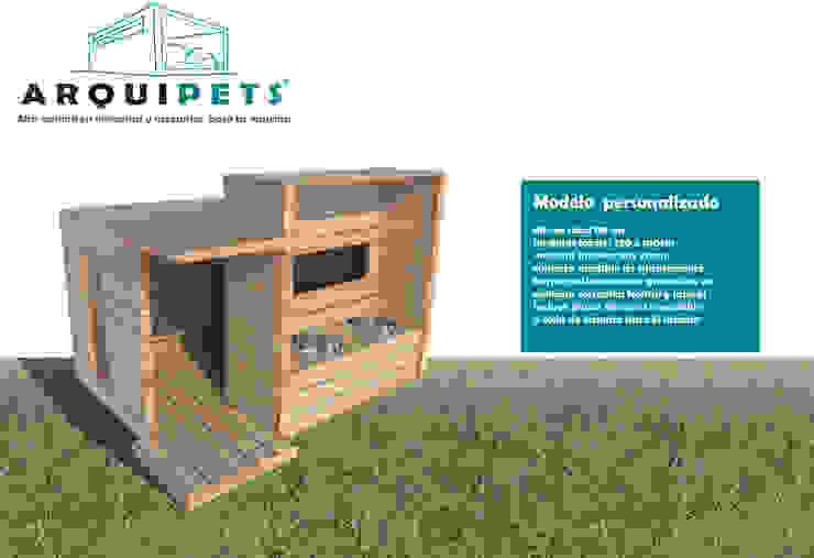 Vivienda Mascota modelo mediterraneo Balcones y terrazas modernos de Arquipets Moderno