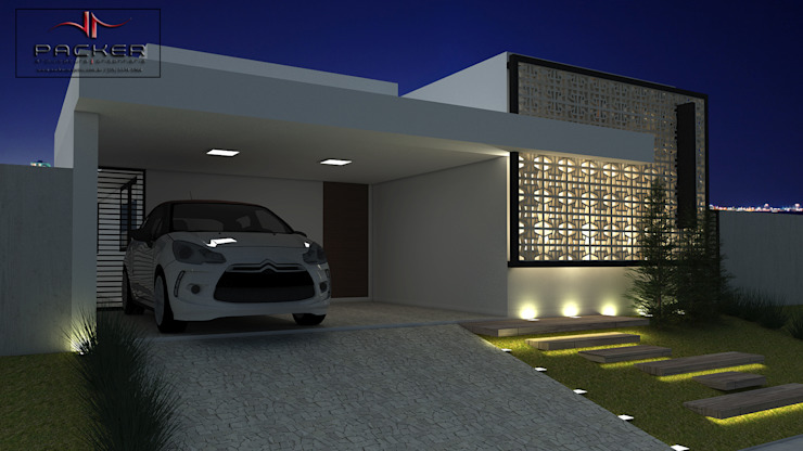Дома в стиле минимализм от PACKER arquitetura e engenharia Минимализм