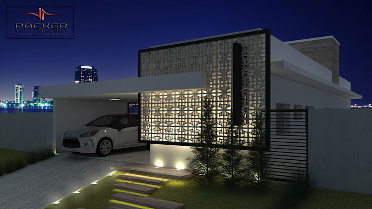 PACKER arquitetura e engenharia Case in stile minimalista