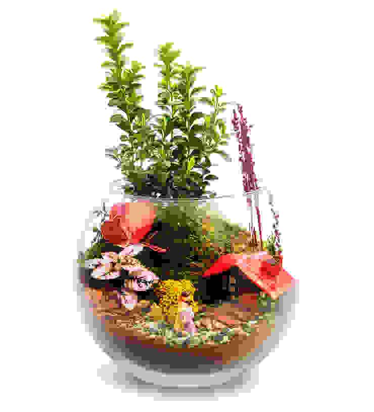 Bahçehane JardinPots de fleurs & vases Verre Multicolore