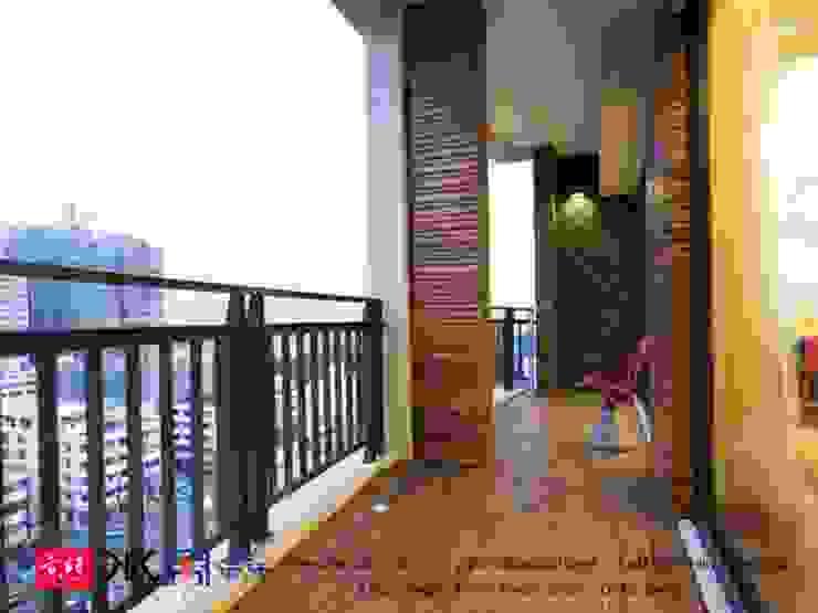 Balcones y terrazas modernos de 京悅室內裝修設計工程(有)公司|真水空間建築設計居研所 Moderno