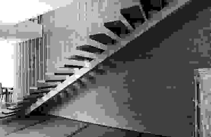 Shah Residence Modern corridor, hallway & stairs by STUDIO MOTLEY Modern Wood Wood effect