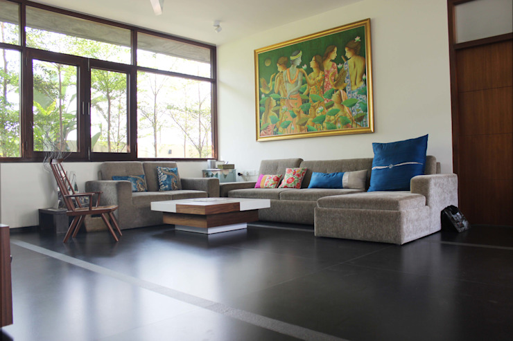 Shah Residence Asian style living room by STUDIO MOTLEY Asian