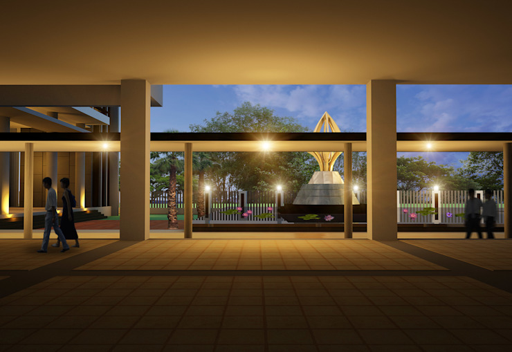 อาคารพุทธาสธรรมโฆษณ์ มหาวิทยาลัยราชภัฏสุราษฎร์ธานี โดย PM DESIGN co.,ltd