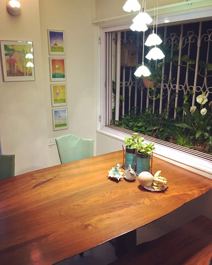 Residence at Andheri Eclectic style dining room by Design Kkarma (India) Eclectic