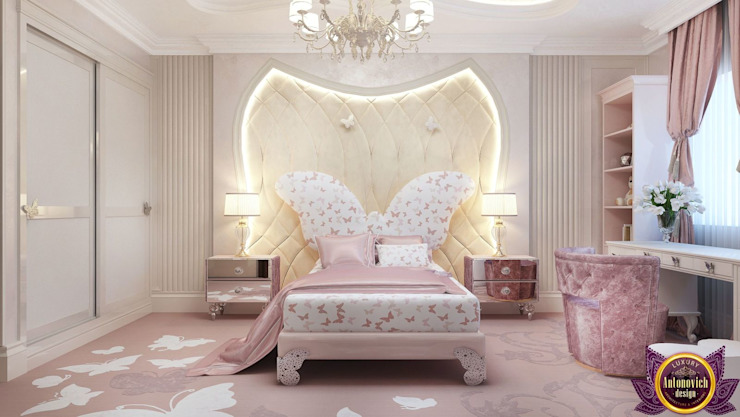 ​  Kids bedroom interior design by Katrina Antonovich:  Bedroom by Luxury Antonovich Design,