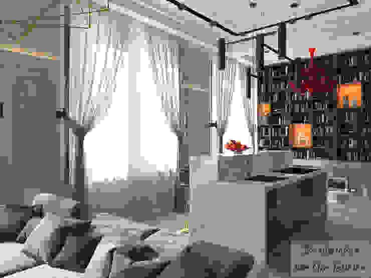 Salas de estilo ecléctico de The Аrt of interior from Olga Kalinina Ecléctico