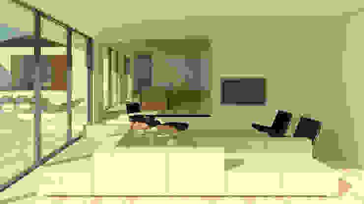 Villa Algarve Loule Portugal 37°10'N 7°59′W Moderne woonkamers van J2Creators Modern