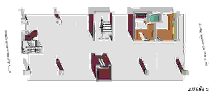 แบบอาคารพักอาคัย 5 ชั้น 29 ห้องนอน โดย th-design ผสมผสาน