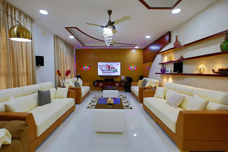 Elegance at Its Best! Classic style living room by Premdas Krishna Classic