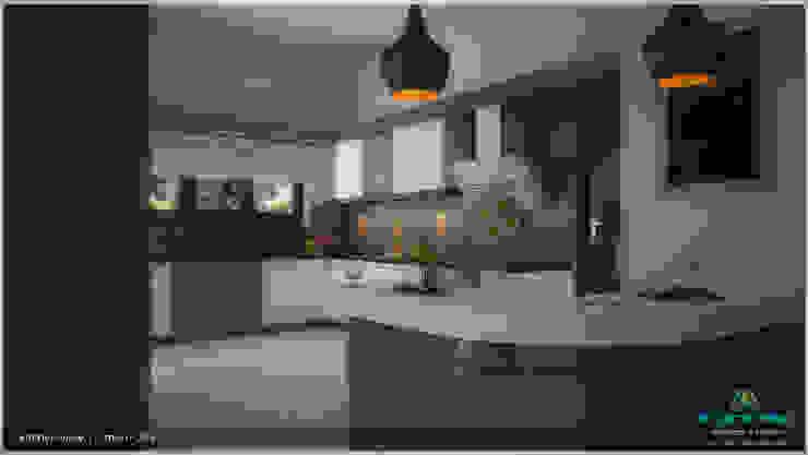 A Modern Elegant Feel Modern kitchen by Premdas Krishna Modern