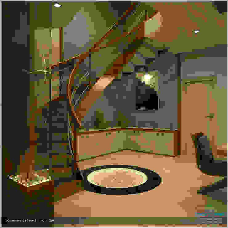 Modern Corridor, Hallway and Staircase by Premdas Krishna Modern