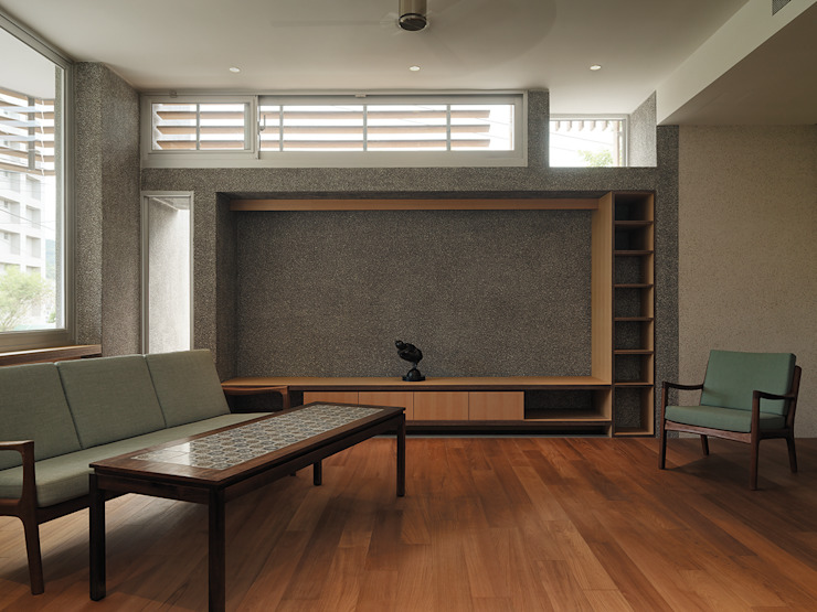 Modern Living Room by 前置建築 Preposition Architecture Modern
