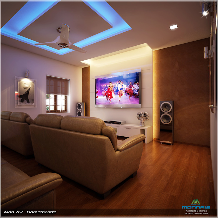 Imposing Design... Modern media room by Premdas Krishna Modern