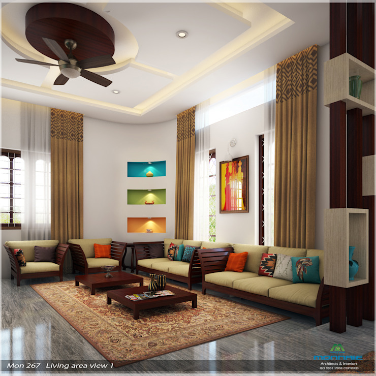 Imposing Design... Modern living room by Premdas Krishna Modern