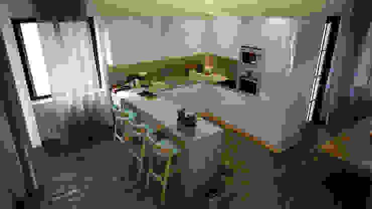 Diseño y reforma piso en Barcelona Centro Cocinas modernas de Toolboxstudio Moderno