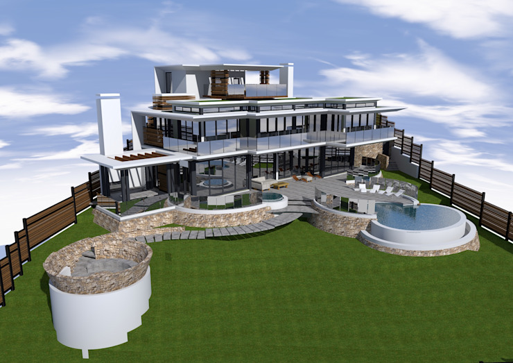 Balito Coastal Home Modern houses by Mark Gouws Architects Modern