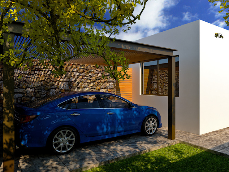 Modern garage/shed by TIZA Modern