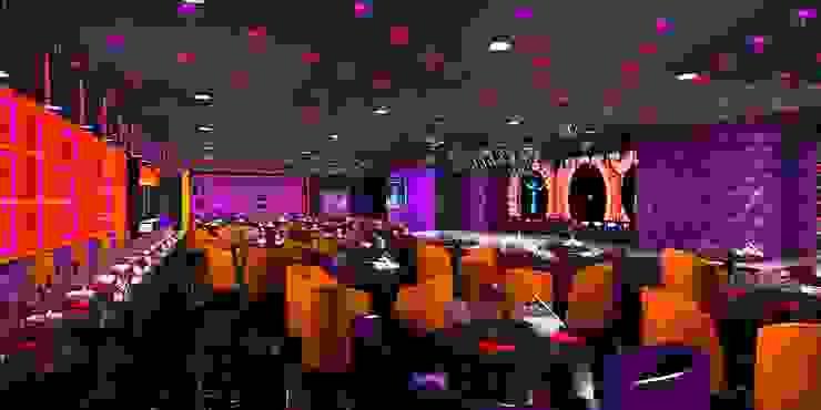 Antakshari Night club Modern bars & clubs by Gurooji Designs Modern