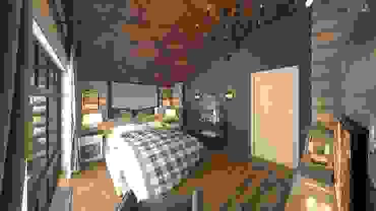 Dormitorios de estilo rústico de atmosvera Rústico Madera Acabado en madera