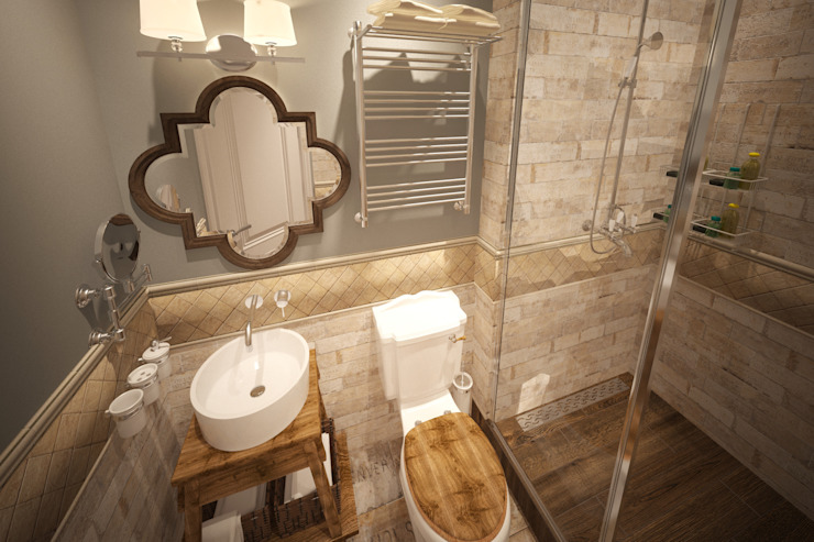 Eclectic style bathroom by atmosvera Eclectic Ceramic