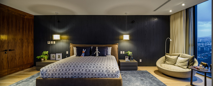Bedroom by NIVEL TRES ARQUITECTURA, Modern Wood Wood effect