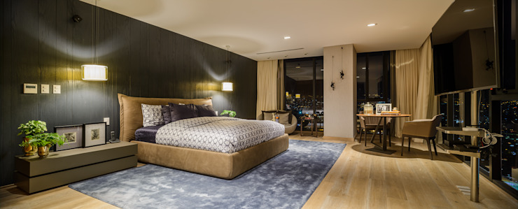 NIVEL TRES ARQUITECTURA Modern Bedroom Wood Wood effect