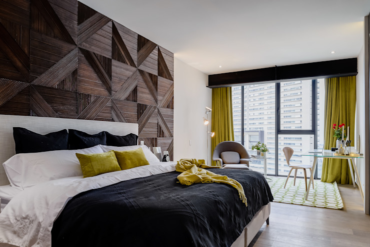 NIVEL TRES ARQUITECTURA Modern Bedroom Wood Black