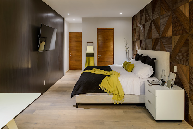 NIVEL TRES ARQUITECTURA Modern style bedroom Wood