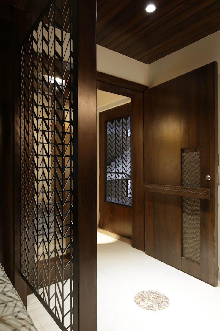 Mr. Asian style corridor, hallway & stairs by studio 7 designs Asian