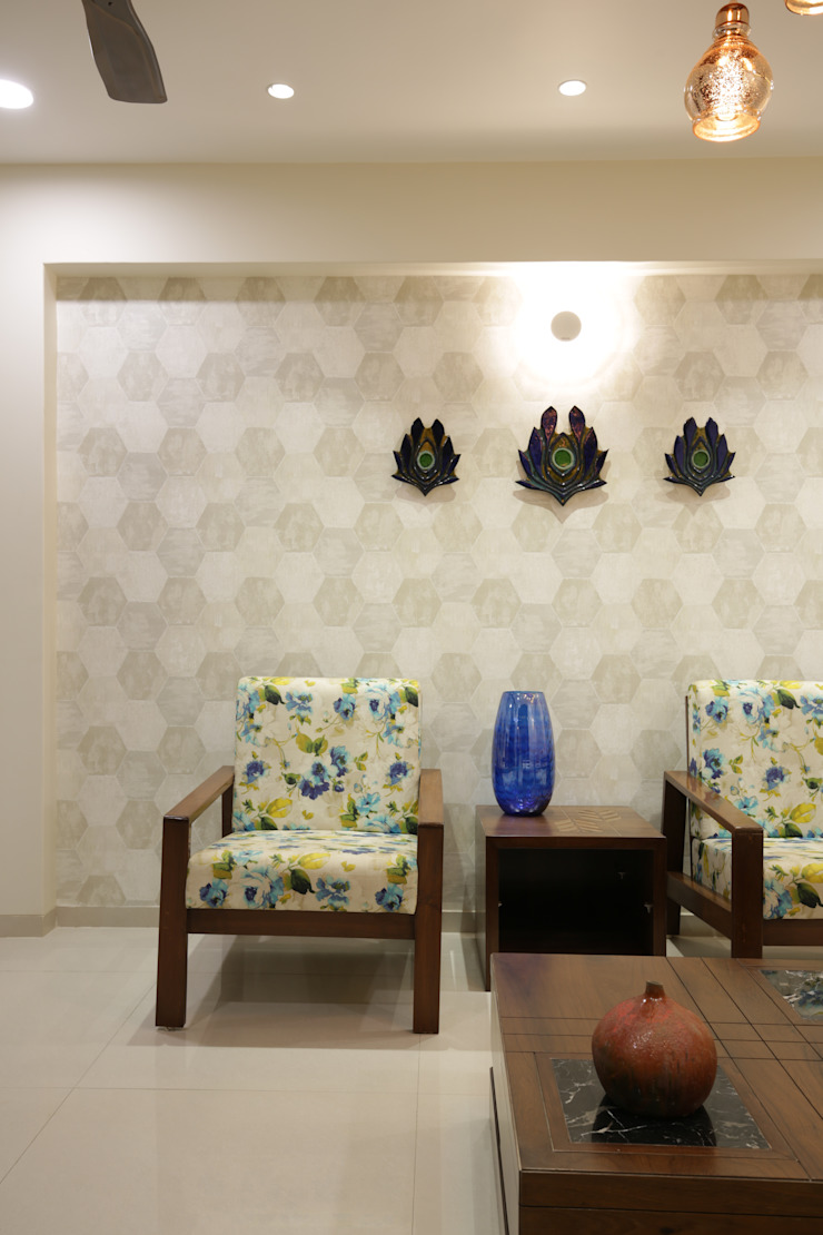 Mr vora's flat Asian style living room by studio 7 designs Asian