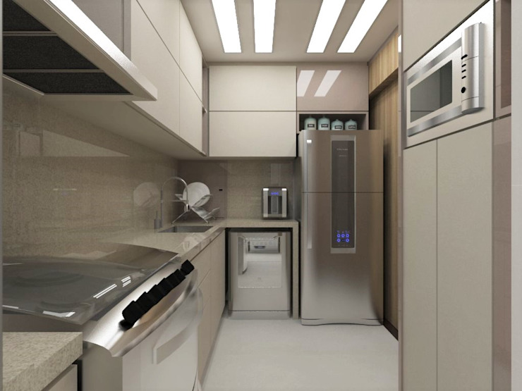 Cozinha | AE Cozinhas modernas por Nádia Catarino - Arquitetura e Design de Interiores Moderno Madeira Efeito de madeira