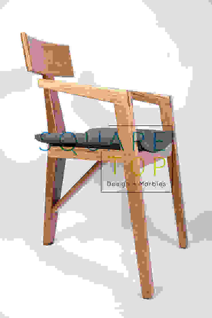 Silla Versilia, telas importadas. de SquareTop Design Escandinavo Madera maciza Multicolor