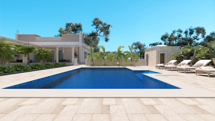VILLA DG Case in stile mediterraneo di De Vivo Home Design Mediterraneo