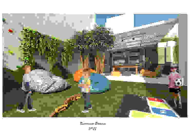 Jardines de estilo  por Paula Werneck Arquitetura, Minimalista