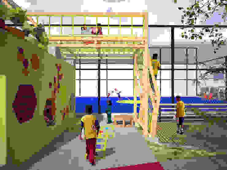 Area de juegos para niños Balcones y terrazas de estilo moderno de Taller de Desarrollo Urbano Moderno