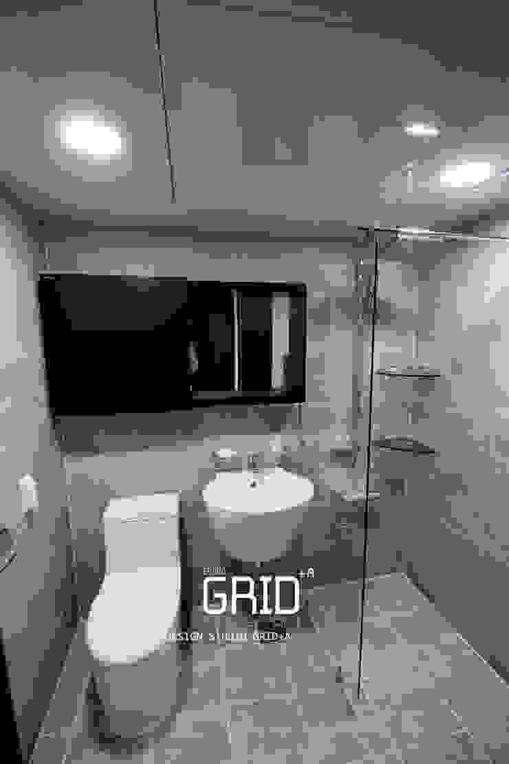 30평대 아파트 욕실인테리어 모던스타일 욕실 by Design Studio Grid+A 모던 타일