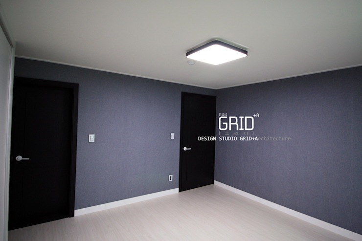30평대 침실인테리어 모던스타일 침실 by Design Studio Grid+A 모던