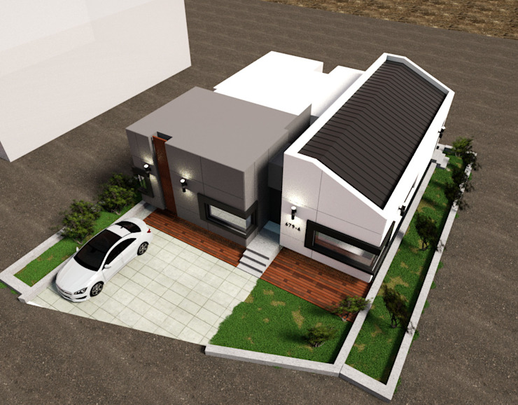 충청남도 금산시 전원주택 모던스타일 주택 by 디자인 이업 모던