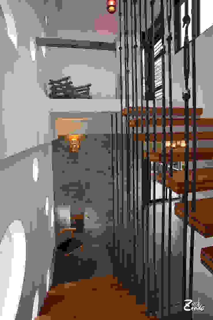 Zendo深度空間設計 隨意取材風玄關、階梯與走廊 根據 Zendo 深度空間設計 隨意取材風
