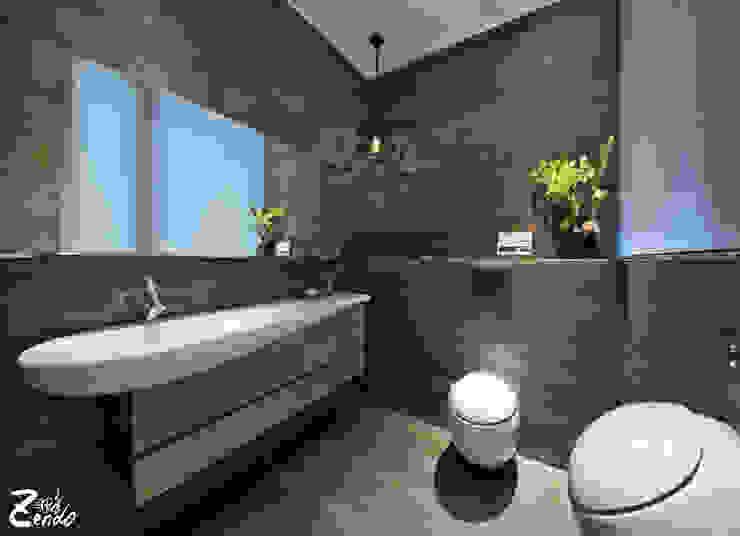 中山朕之道 現代浴室設計點子、靈感&圖片 根據 Zendo 深度空間設計 現代風
