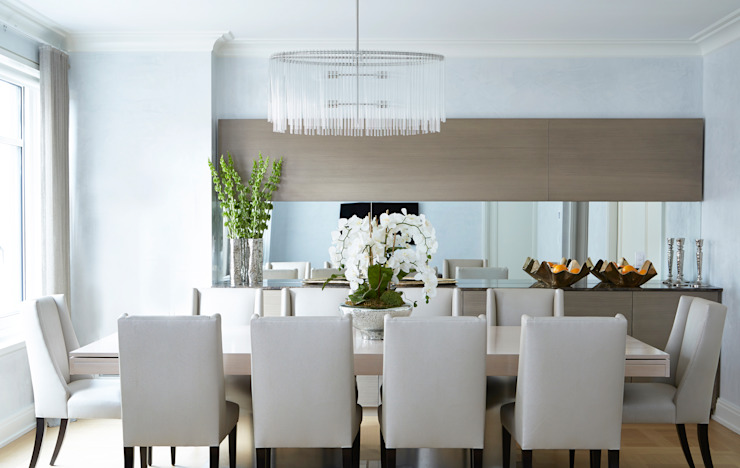 New York City Family Home Ruang Makan Klasik Oleh JKG Interiors Klasik Parket Multicolored