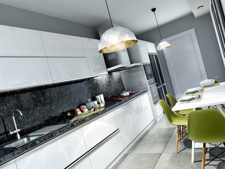 Cocinas de estilo moderno de VERO CONCEPT MİMARLIK Moderno