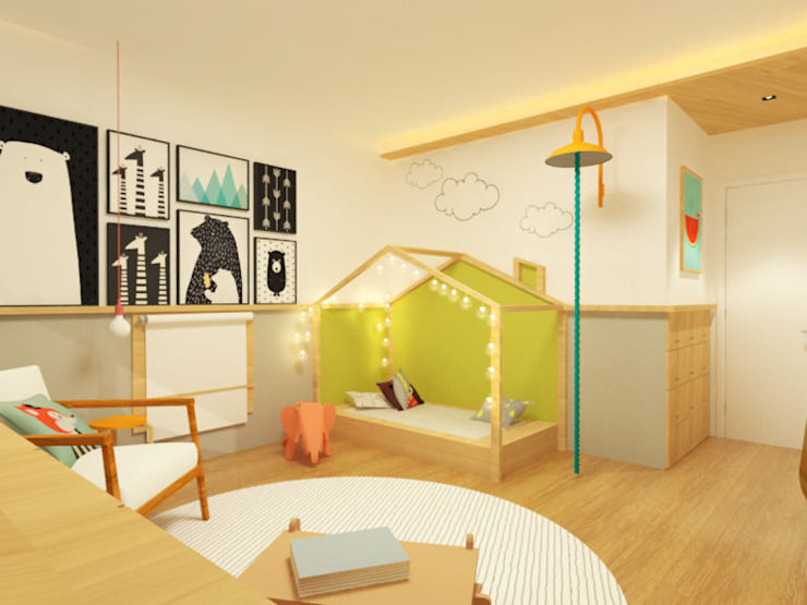Projekty,  Pokój dziecięcy zaprojektowane przez Macro Arquitetos, Nowoczesny
