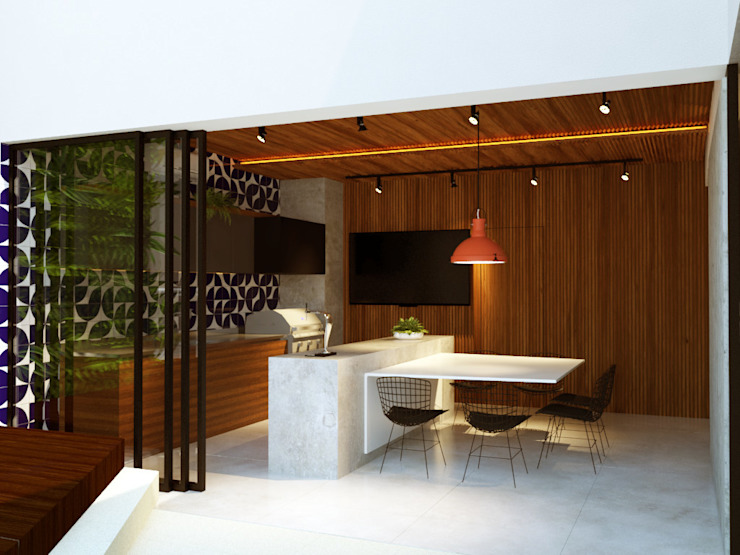 Balkon, Beranda & Teras Modern Oleh Macro Arquitetos Modern