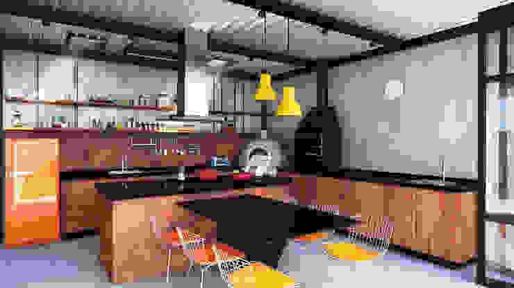 GOURMET + ATELIER Cozinhas modernas por Macro Arquitetos Moderno
