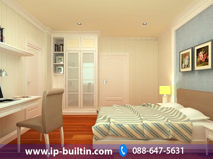 ตกแต่งภายใน ห้องนอน โดย IP BUILT IN